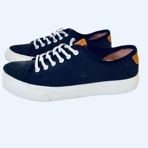 Frye Gia Canvas Black Sneakers 10M